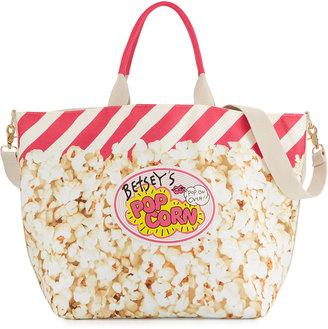 Betsey Johnson Amuse Me Popcorn Tote Bag, Cream/Multi $70 thestylecure.com