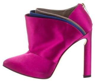 Jimmy Choo Satin Pointed-Toe Booties
