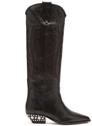 Isabel Marant Dinzi western leather knee-high boots