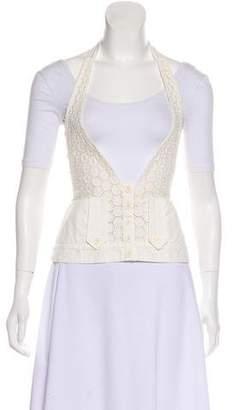 Chloé Halter Lace Vest