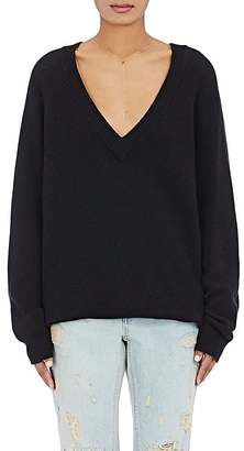 T by Alexander Wang Women's Oversized V-Neck Sweater $325 thestylecure.com