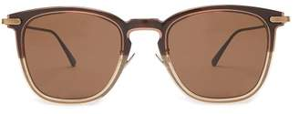 D Frame Acetate Sunglasses - Mens - Brown