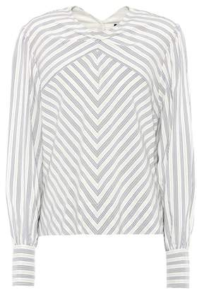 Isabel Marant Val striped silk-blend top