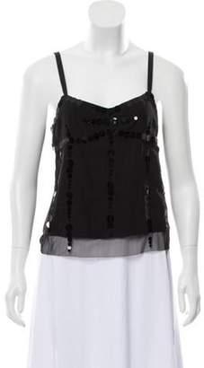 Marc Jacobs Sequin Silk Top Black Sequin Silk Top