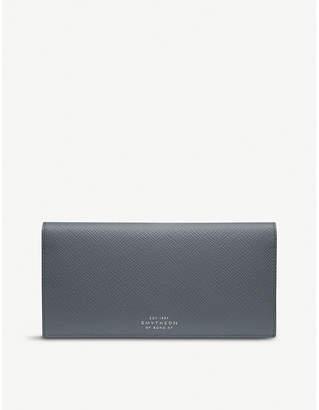 Smythson Panama leather slim coat wallet