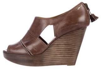 Chloé Leather Platform Wedges
