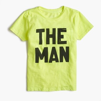"Boys' garment-dyed ""The Man"" T-shirt $32.50 thestylecure.com"