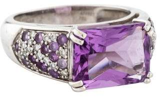 Mauboussin 18K Diamond & Amethyst Cocktail Ring