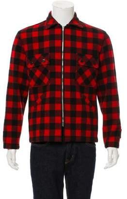 Saint Laurent Plaid Wool Jacket