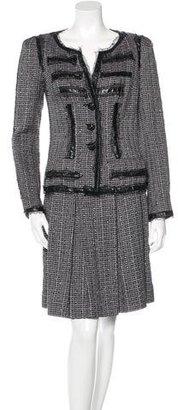 Chanel Metallic Tweed Skirt Suit $1,595 thestylecure.com