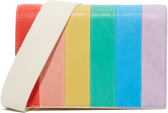 alice + olivia Rainbow Leather Cross Body Bag $395 thestylecure.com