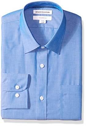 Amazon Essentials Men's Standard Slim-Fit Wrinkle-Resistant Long-Sleeve Solid Dress Shirt