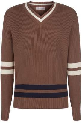 Brunello Cucinelli Cotton V-Neck Sweater