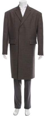Calvin Klein Patterned Wool Overcoat