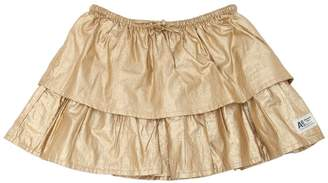 American Outfitters Layered Coated Cotton Mini Skirt