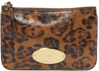 Mulberry Brown Leather Clutch Bag