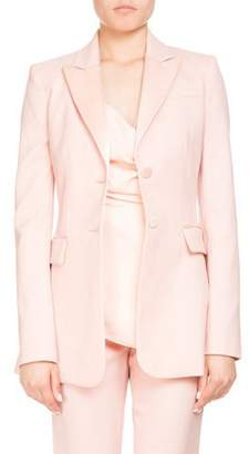 Altuzarra West Two-Button Satin-Trim Wool Tux Blazer