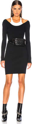 Alexander Wang Bodycon Bi Layer Mini Dress in Black & White | FWRD
