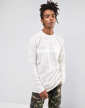 Cayler & Sons Long Sleeve T-Shirt In Stone Camo