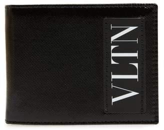 Valentino VLTN Leather Money Clip Card Case
