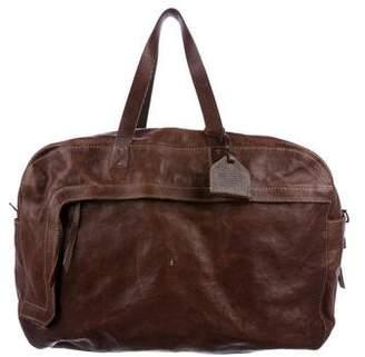 Henry Beguelin Grained Leather Weekender