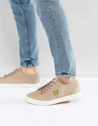 Lyle & Scott Twill Sneakers Stone
