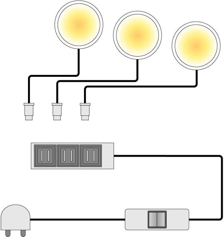 Trendteam EEK A+, LED-Unterbauspot Glow (2er-Set)