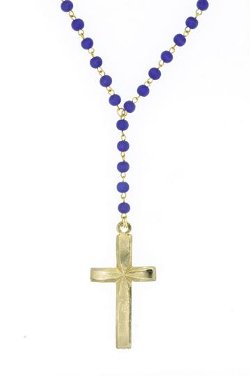 Ettika Large Cross Rosary Chain