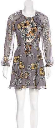 For Love & Lemons Silk Floral Dress