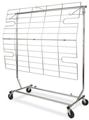 Econoco - RCA/5 - Chrome Display Screen and Shelf for Collapsible Rolling Racks
