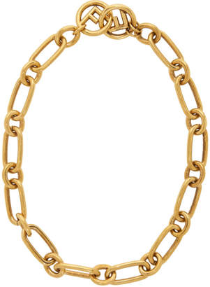 Fendi Gold F is Chain Necklace