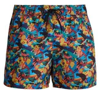 d2ef6389a0 Paul Smith Fox Print Swim Shorts - Mens - Multi