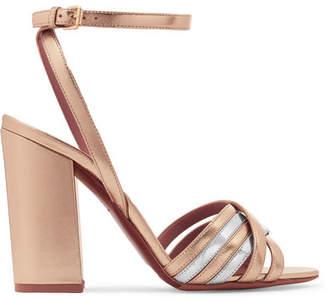 Tabitha Simmons Toni Two-tone Metallic Leather Sandals - Gold