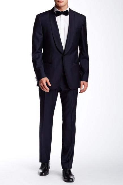 Hugo BossHUGO BOSS Contrast Trim Two Button Notch Lapel Suit