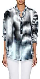 A Shirt Thing Women's Oversized Striped Gauze Blouse Size 3 00505058448465