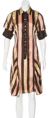 Jean Paul Gaultier Striped Knee-Length Shirtdress