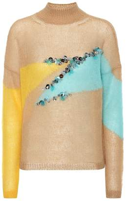 DELPOZO Sequined wool-blend sweater