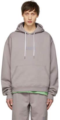 Wonders SSENSE Exclusive Grey Embroidered Logo Hoodie