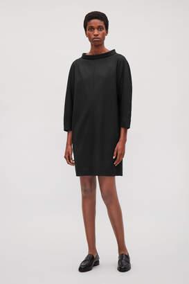 Cos WIDE-NECK WOOL DRESS