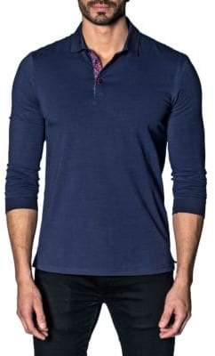 Jared Lang Long-Sleeve Stretch Polo