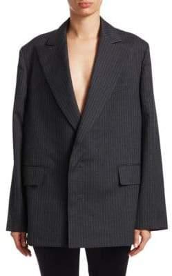 Junya Watanabe Wool Stripe Two-Button Blazer