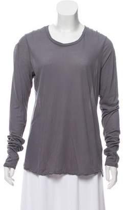 James Perse Long Sleeve Scoop Neck Shirt