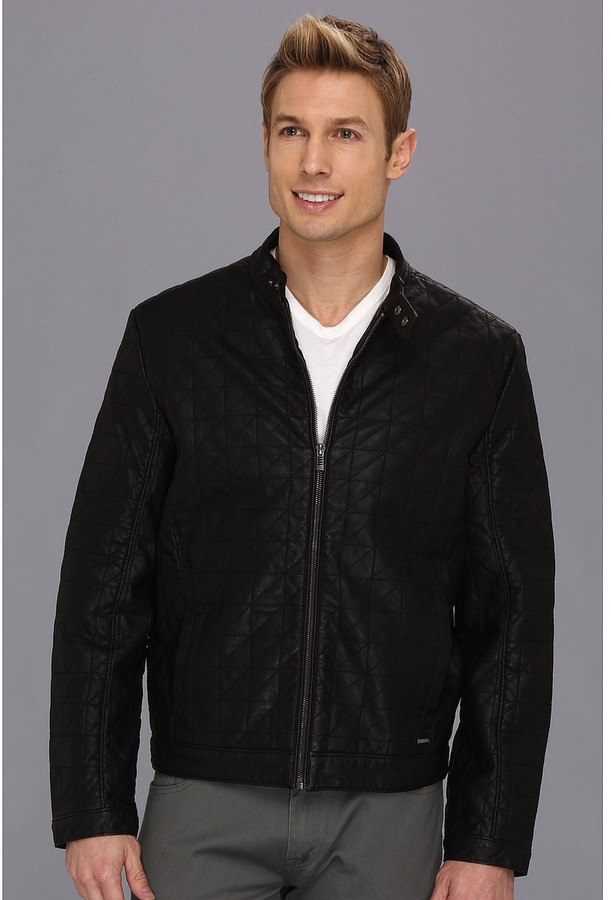 Calvin Klein Quilted Moto Jacket (Black) - Apparel