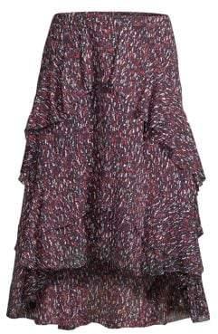 Joie Brigida High-Low Ruffle Skirt