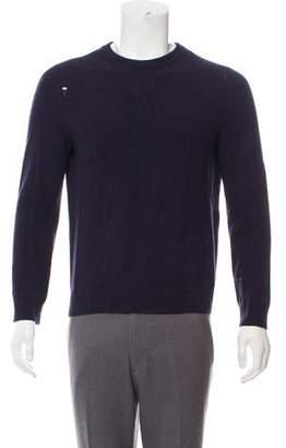 Saint Laurent Distressed Wool-Cashmere Sweater