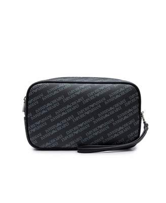 Armani Jeans All Over Leather Wash Bag