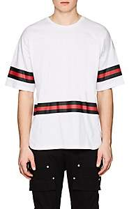 Stampd Men's Striped Cotton Hockey T-Shirt - White