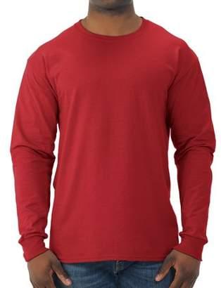 JERZEES Mens Dri-Power Long Sleeve Crewneck T Shirt