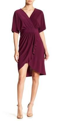 Just For Wraps Ruffle Drape Dress