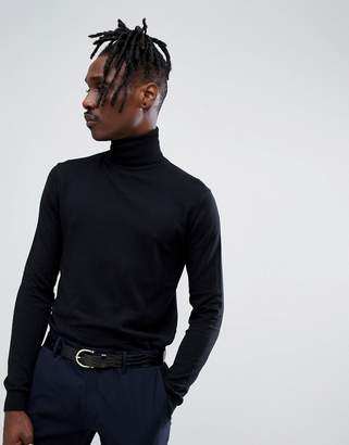 Antony Morato turtleneck sweater in black cashmere blend